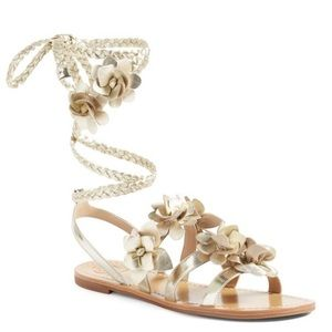 NWOB Tory Burch Blossom Lace Up Gladiator Sandals